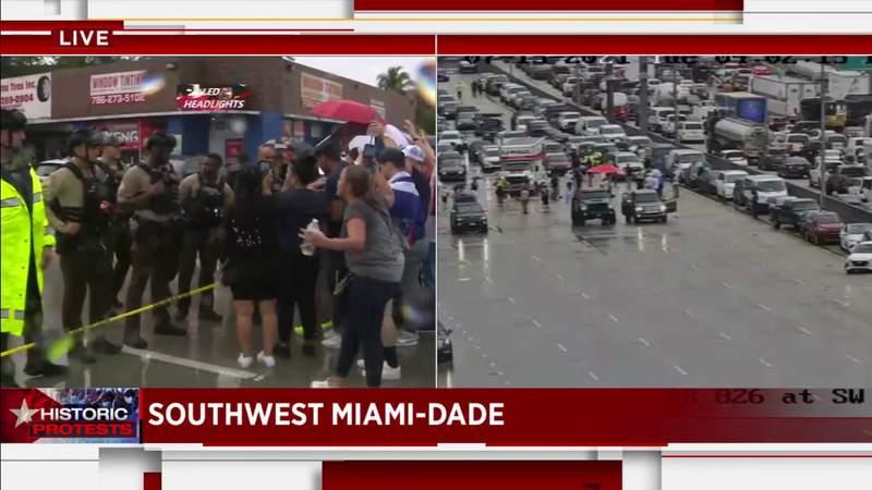 'Patria Y Vida' protesters in Miami-Dade: 'The US will shutdown communism'