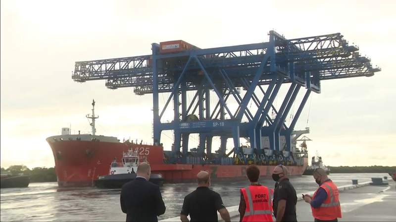 New cranes from China part of Port Everglades expansion