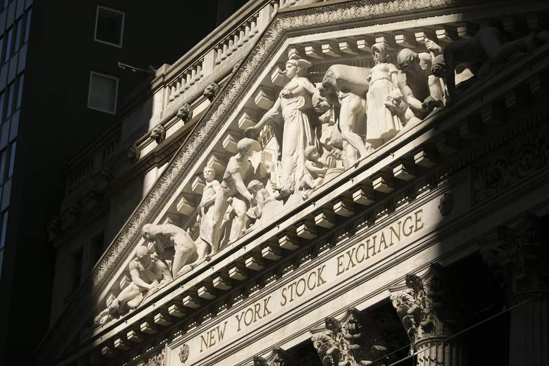 FILE - This July 21, 2020 file photo shows The New York Stock Exchange.  Stocks are rebounding in early trading on Wall Street Wednesday, Aug. 12, carrying the S&P 500 back toward the cusp of its record high. The benchmark index was up 1% after the first half-hour of trading and on pace for its eighth gain in nine days.  (AP Photo/Mark Lennihan, File)