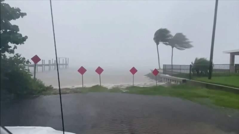 Hurricane Elsa moving up Florida's west coast, bringing heavy rain and wind