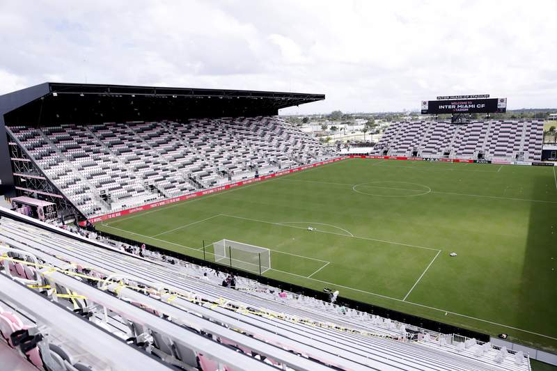 A view of Inter Miami CF Stadium prior to a game between Inter Miami CF and Orlando City SC on October 24, 2020, in Fort Lauderdale.