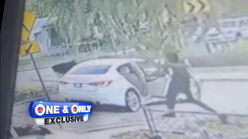 Gunmen seen hopping out of car and firing at people in North Miami