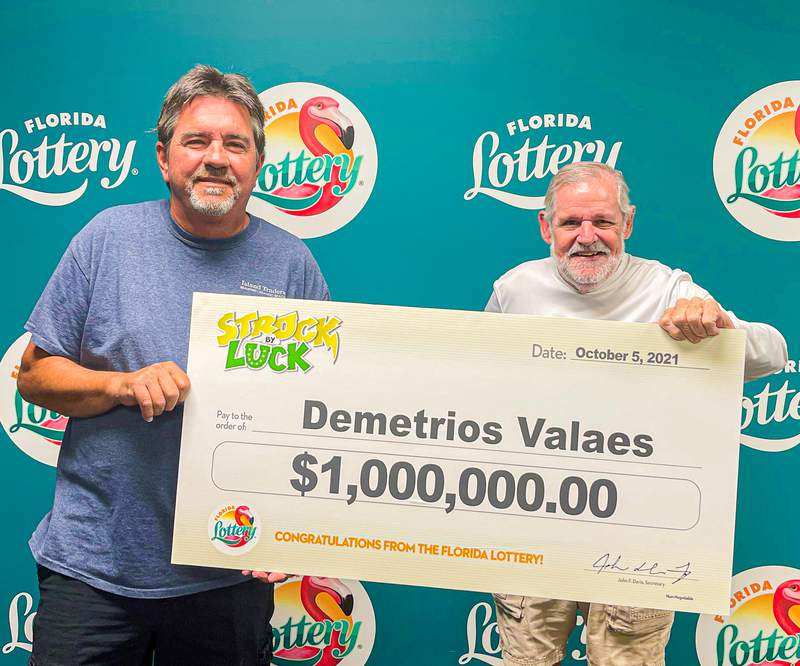 Demetrios Valeas of Tampa picked up his winnings from a new Florida Lottery scratch-off game.