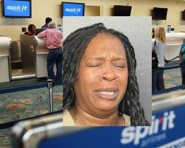 Francita Anitha Ward, 48, was charged with disorderly conduct and disturbing the peace at Fort Lauderdale-Hollywood International Airport.