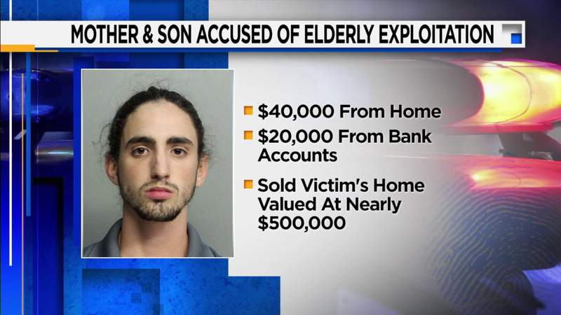 Mother, son accused of exploiting elderly relative in Hialeah, leaving him penniless
