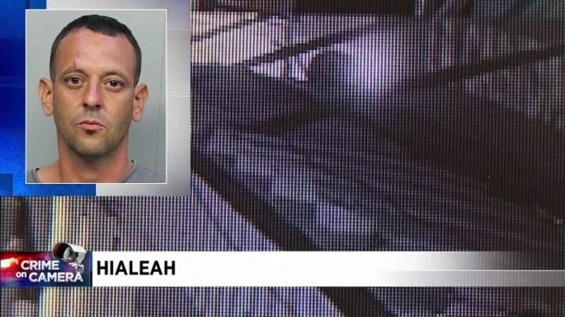 Hialeah burglar creates hole on roof of restaurant to get inside