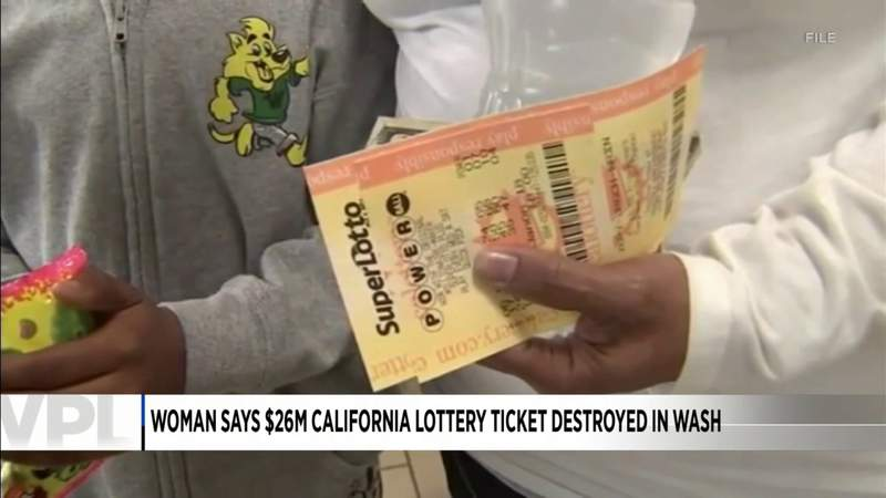 Was a woman's lottery jackpot lost in the wash?