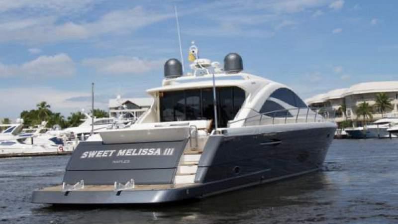 Sweet Melissa III motor yacht.
