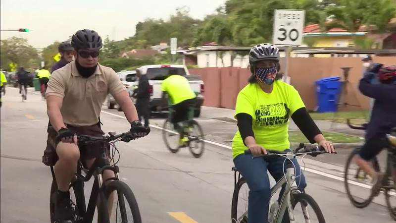 Miami bike ride honors Martin Luther King Jr. with message of togetherness