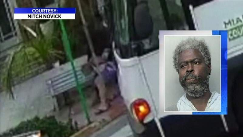 Man arrested for beating of tourists at Miami Beach bus stop