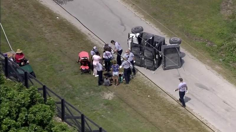 4 minors injured after off-road cart overturns in rural southwest Miami-Dade