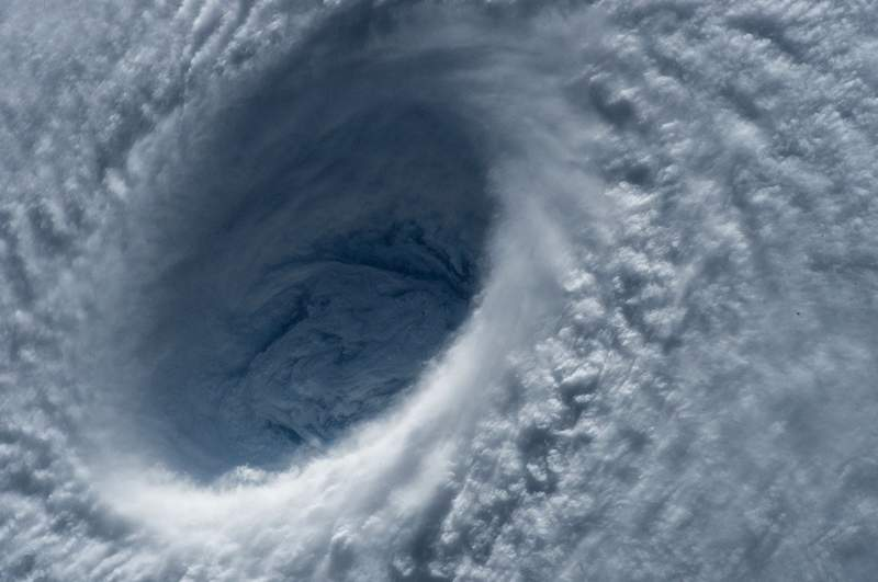 Eye of a typhoon.