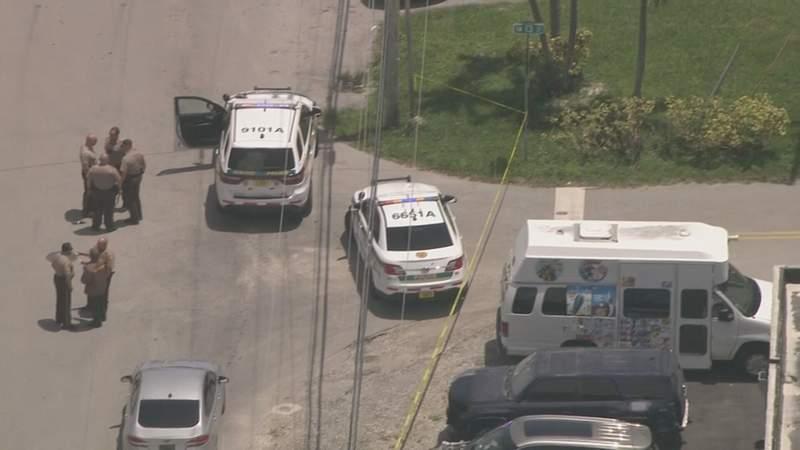 Miami-Dade shooting scene.