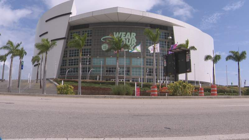 American Airlines Arena in Downtown Miami.