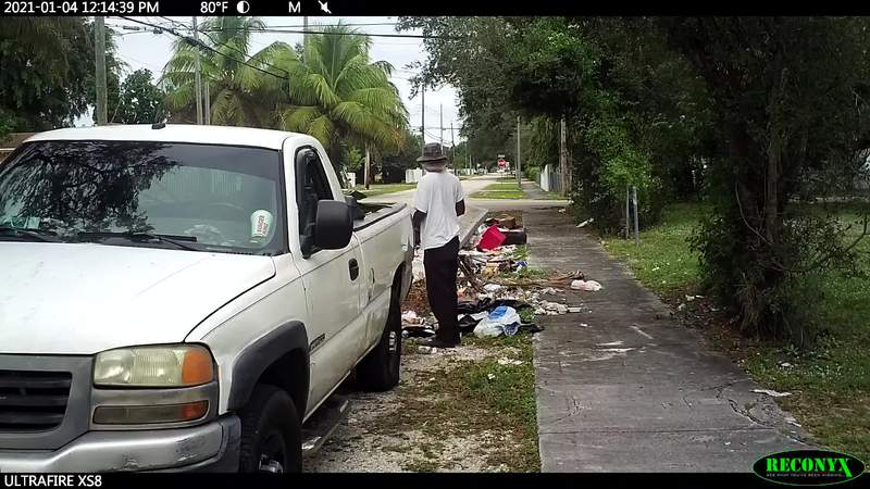 A trash-dumping duo is caught in Northwest Miami-Dade
