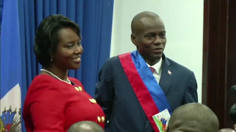 Notre Dame d'Haiti Catholic Church parishioners pray for Haitian First Lady Martine Moïse