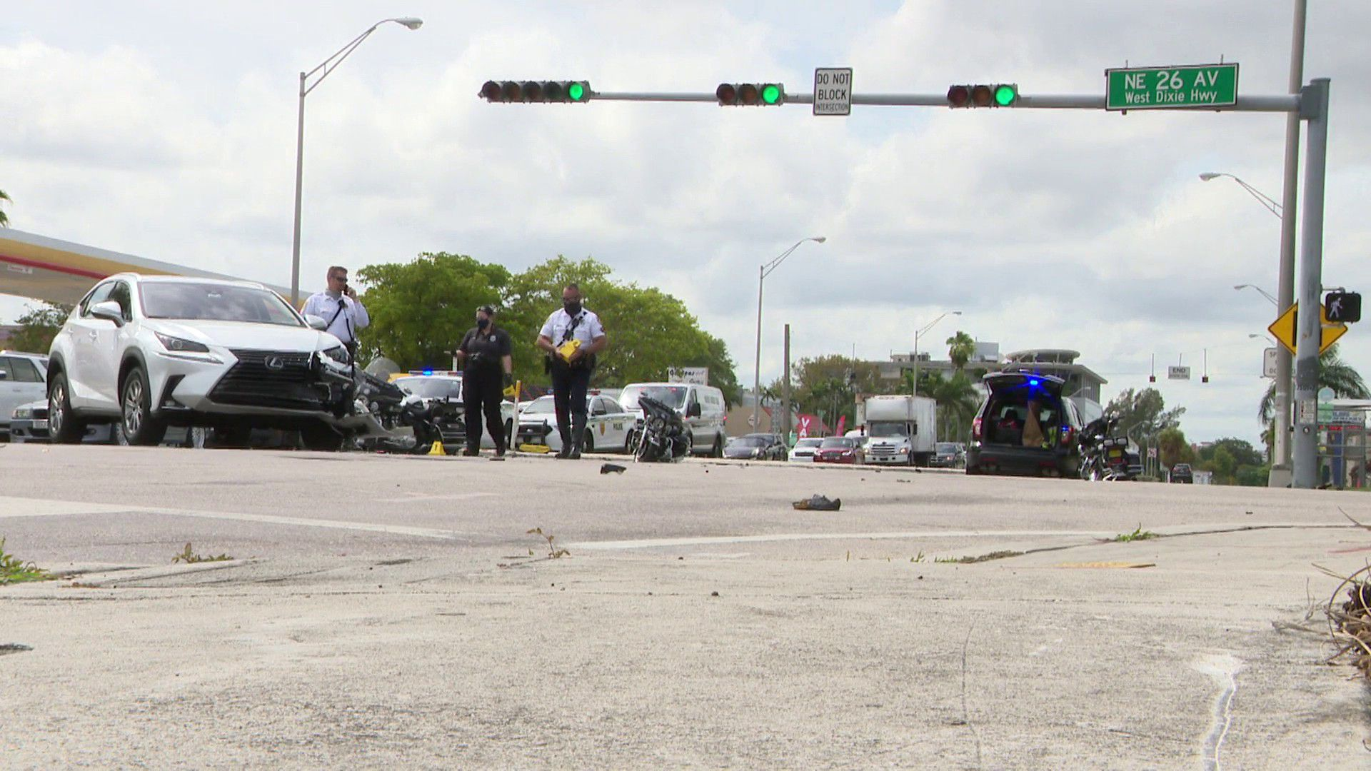 FHP: SUV driver collides with Miami Beach motorcycle officer