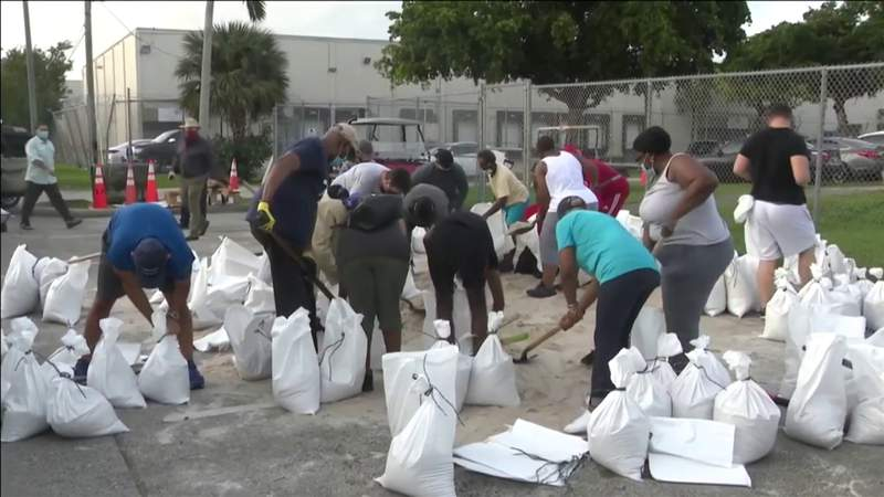 South Floridians preparing for possible impact of Tropical Depression Eta