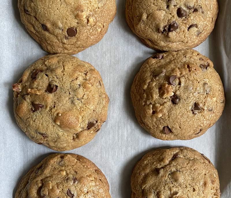 Homemade chocolate chip walnut cookies. Photo by Nicole Lopez-Alvar.