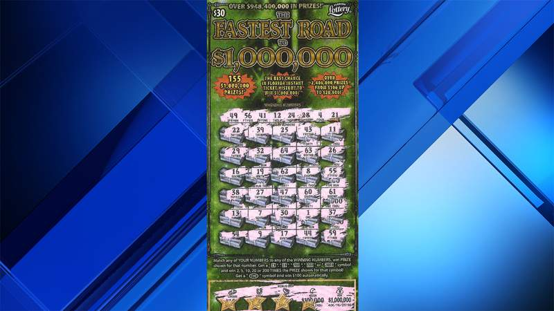 This ticket bought in North Miami Beach was worth a $1 million top prize.