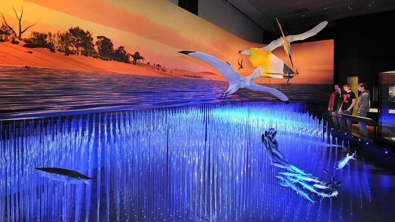 Pteerosaurs exhibit at Frost Science Museum has visitors piloting through virtual prehistoric landscapes