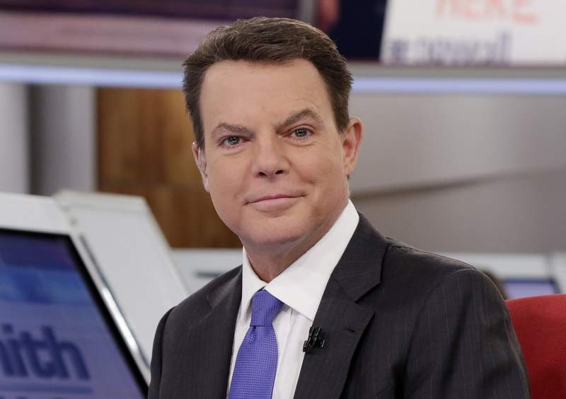 """FILE - Shepard Smith appears on The Fox News Deck before his """"Shepard Smith Reporting"""" program on Jan. 30, 2017, in New York. Two weeks shy of a year after his abrupt exit from Fox News Channel, Smith is making his return to television. His general interest newscast on CNBC premieres Wednesday, Sept. 30, 2020, at 7 p.m. Eastern.  (AP Photo/Richard Drew, File)"""
