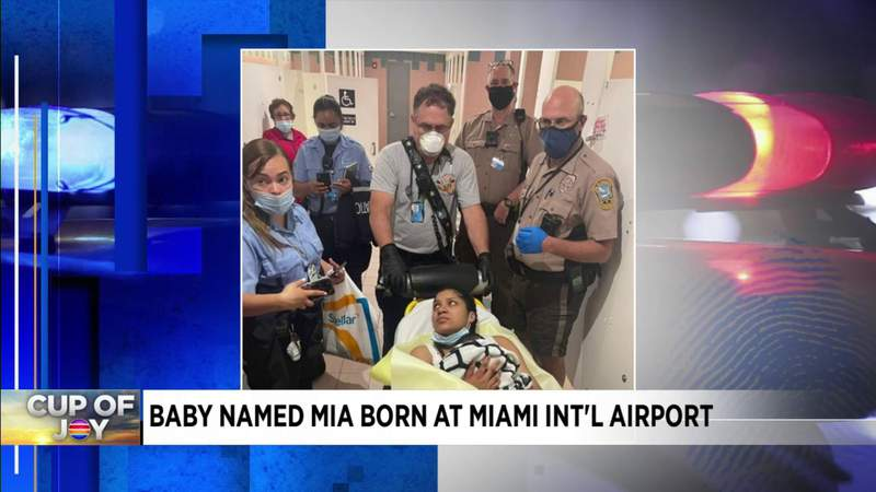 Woman delivers baby at Miami International Airport