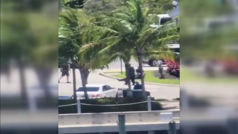 A North Miami Beach Police officer is in serious condition after a female suspect allegedly ran him over in Aventura. According to police, the officer was attempting to stop the driver who was involved in a hit-and-run when he was run over.