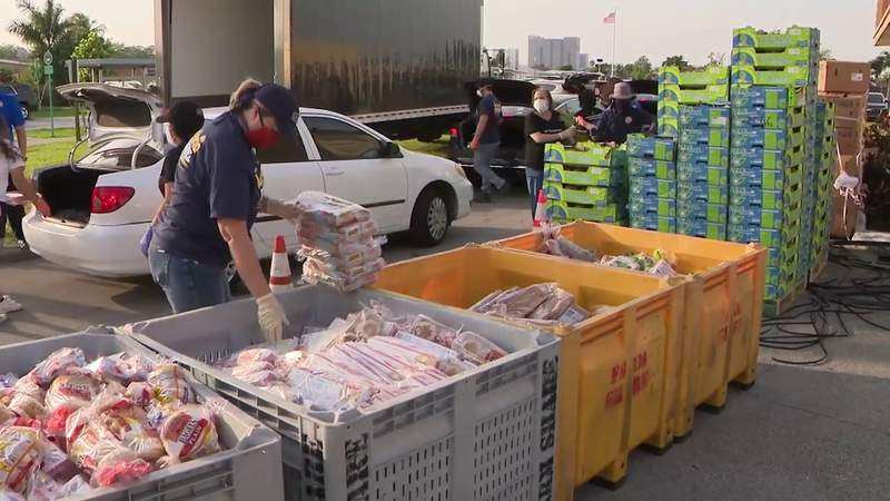 Sweetwater food giveaway runs out of items hours after opening