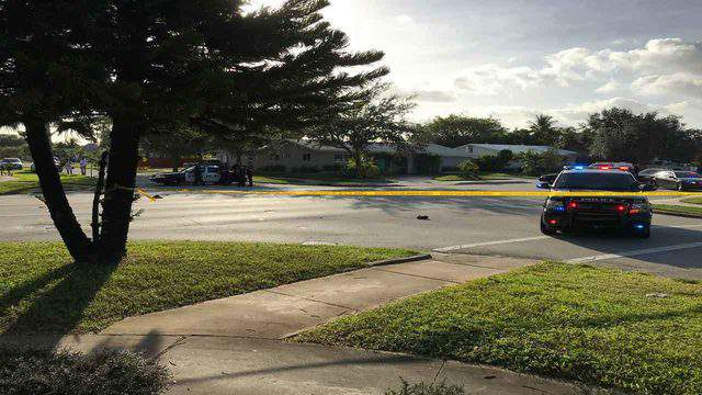 A pedestrian was struck and killed Tuesday morning on North 46th Avenue in Hollywood.