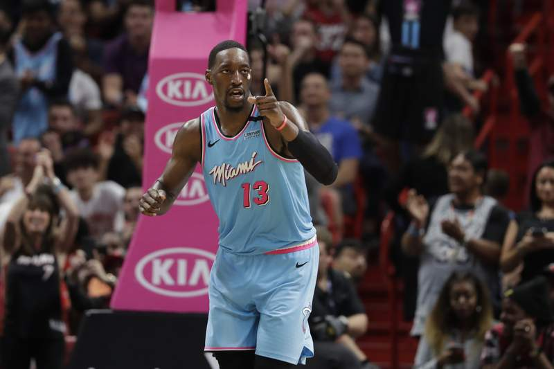 Bam Adebayo is not yet with the Miami Heat in Orlando, according to point guard Goran Dragic, who spoke after practice Friday.