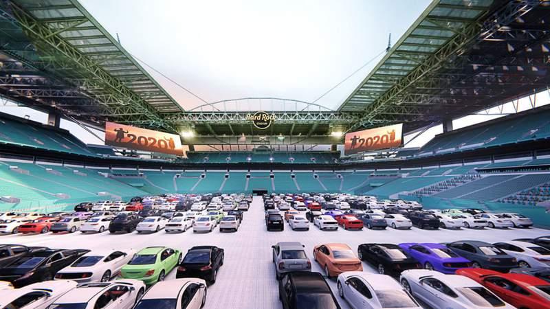 Hard Rock Stadium Drive-In Rendering