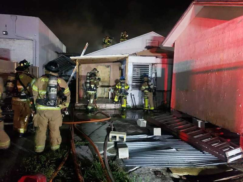 Families displaced after house fire in NW Miami-Dade.