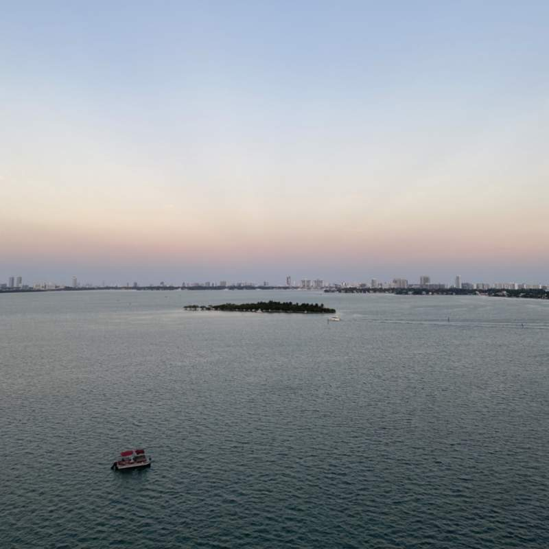View of Picnic Islands and Sunset Harbour from Edgewater.