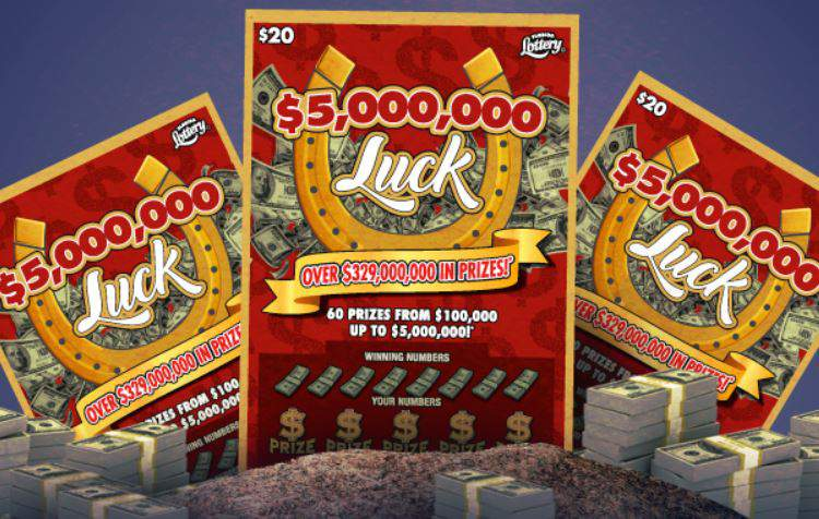 """A Miami man won a top prize of $5 million from this """"Luck"""" scratch-off."""