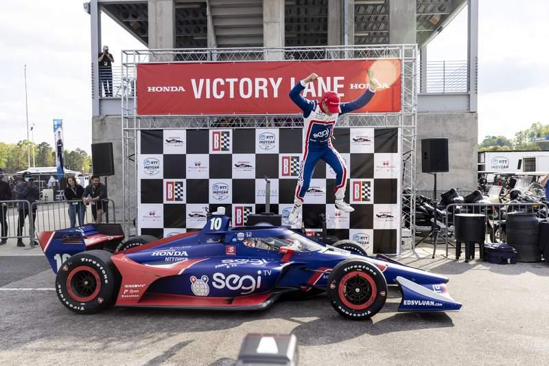 Alex Palou scores 1st career IndyCar win in Ganassi debut