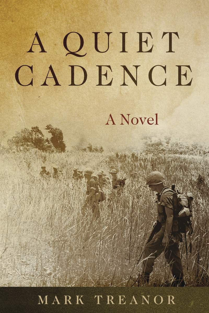 """This cover image released by Naval Institute Press shows """"A Quiet Cadence,"""" a novel by Mark Treanor. The novel is this years recipient of the William E. Colby Award for best debut book, fiction or nonfiction, military history, foreign policy or intelligence operations. Treanor was a Marine in Vietnam and has a long career in public service. (Naval Institute Press via AP)"""