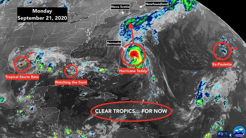 Sept. 21 satellite image of the tropics.