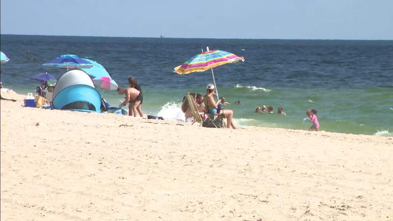 Labor Day weekend beach crowds not as large as usual