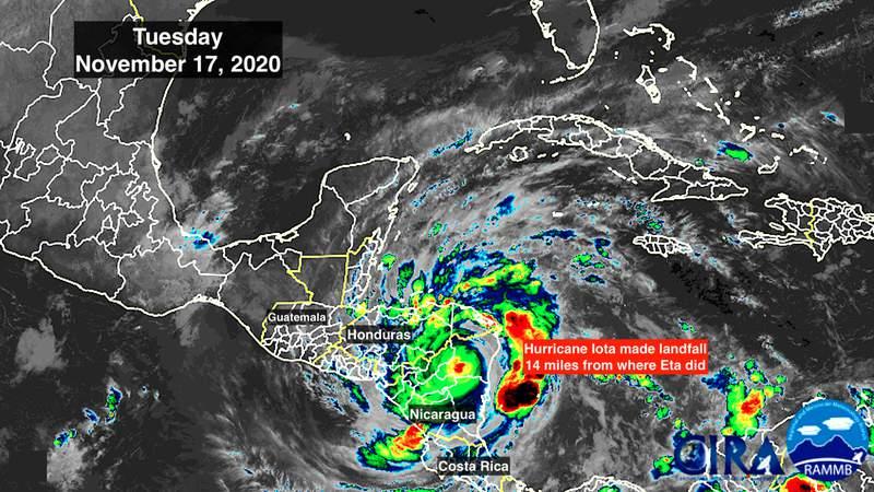 Tracking Hurricane Iota on Tuesday, Nov. 17, 2020.