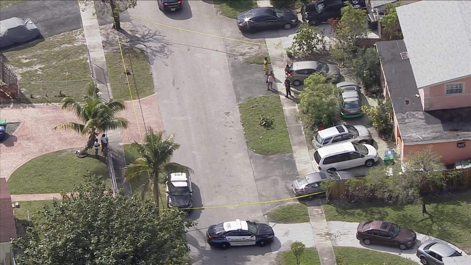 Broward Sheriff's Office deputies investigate a machete attack on Northwest 44th Terrace in Lauderhill.