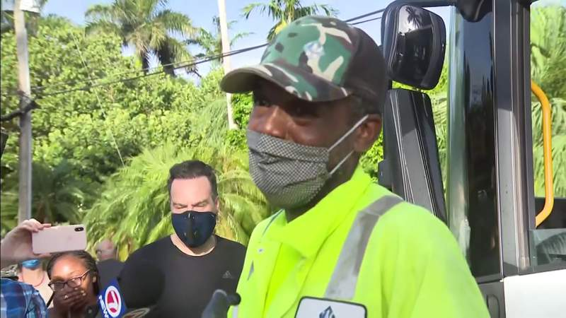 Miami Beach community meets to honor sanitation workers for work during pandemic