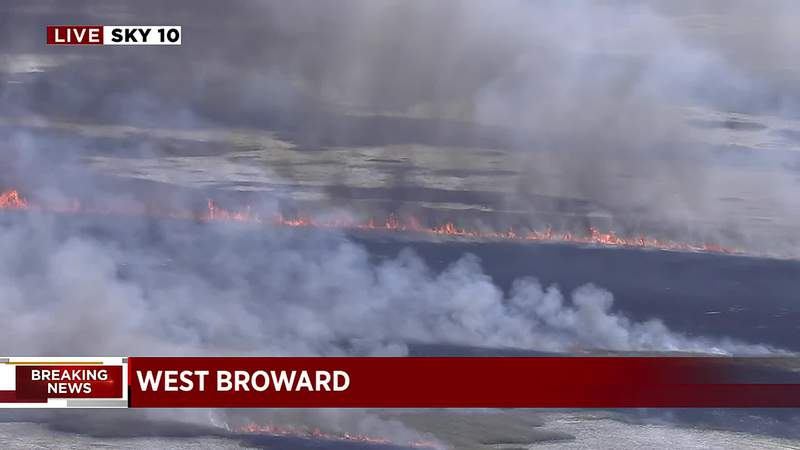 The Florida Forest Service was conducting a controlled burn that created lots of smoke in West Broward.