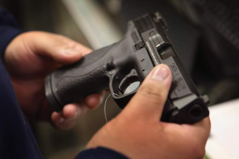Requests for concealed weapons licenses have reached an all-time high in Florida in 2020. (Photo by Scott Olson/Getty Images)