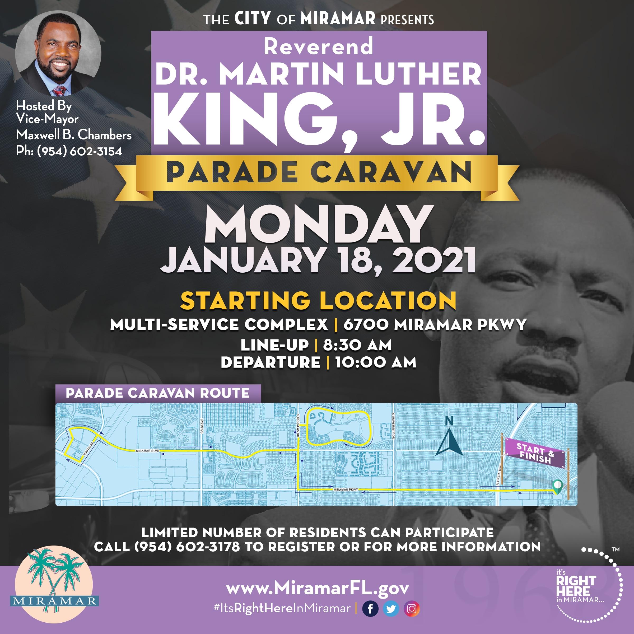 Miramar to hold Martin Luther King parade caravan Monday