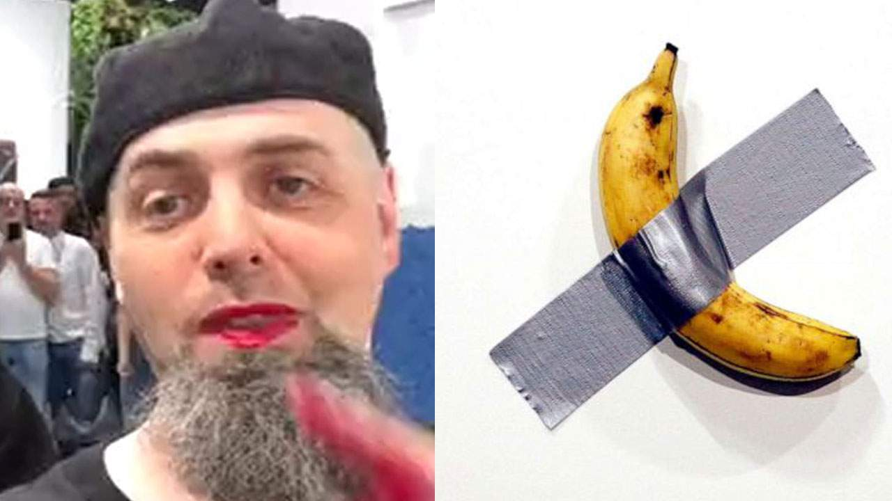 Charge dropped against artist who wrote on art-banana wall