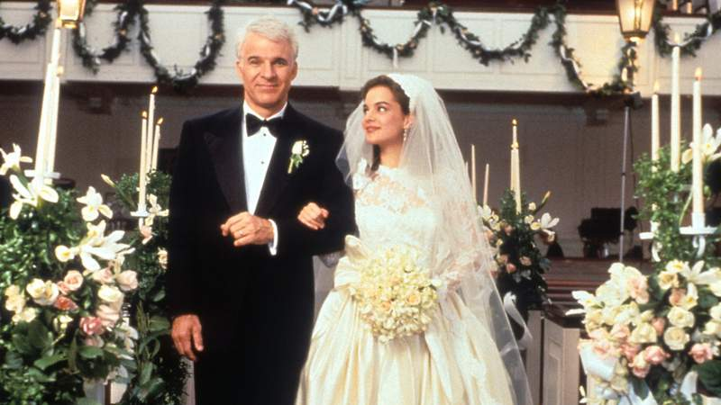 "Steve Martin and  Kimberly Williams-Paisley in ""Father of the Bride."""