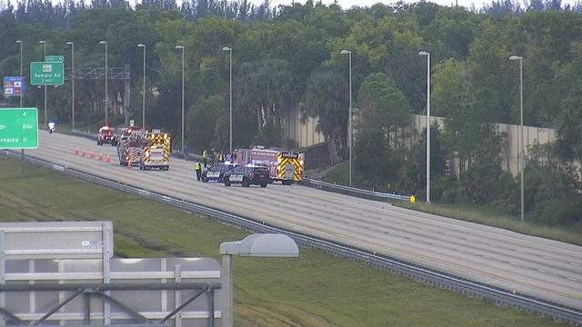 Coral Springs police and Fire Rescue officials responded to a rollover accident involving a commercial truck on the Sawgrass Expressway at Sample Road on Tuesday afternoon.
