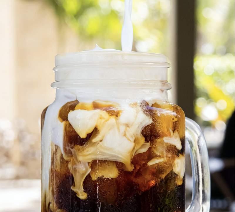 Iced coffee by Crema Gourmet Espresso Bar.