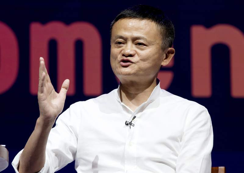 FILE - In this Oct. 12, 2018, file photo, Chairman of Alibaba Group Jack Ma speaks during a seminar in Bali, Indonesia. Chinas highest-profile entrepreneur, e-commerce billionaire Jack Ma, appeared Wednesday, Jan. 20, 2021, in a video posted online, ending a 2 1/2-month disappearance from public view that prompted speculation about his status and his business empires future. In the 50-second video, Ma congratulated teachers supported by his charitable foundation and made no mention of his absence from public view and scrutiny of his Alibaba Group and Ant Group by regulators.(AP Photo/Firdia Lisnawati, File)